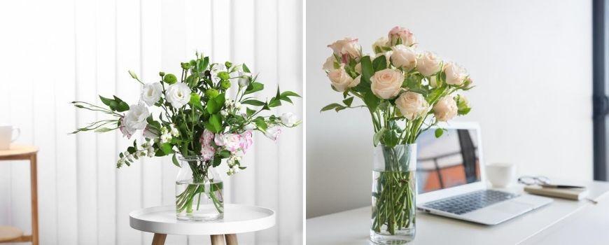 Glazen bloempotten en vazen - Groencentrum Hoogeveen